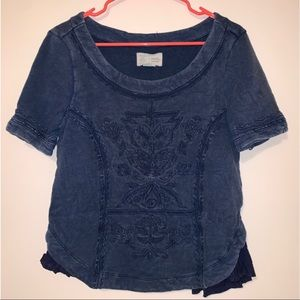 Navy anthropology shirt